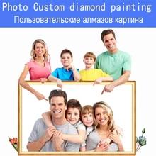 DPF Photos Custom round Diamond Painting Rhinestone DIY embroidery Cross Stitch  mosaic painting