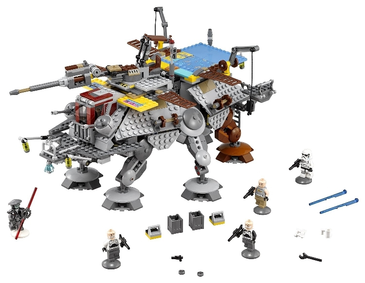 LEPIN 05032 Star series plan Captain Rex AT-TE Model Building Kit Blocks Bricks Compatible with Lego 75157 Children Toys lepin 1022pcs star series wars captain rex s at te building blocks brick lepin 05032 boys toys gift compatible legoingly 75157