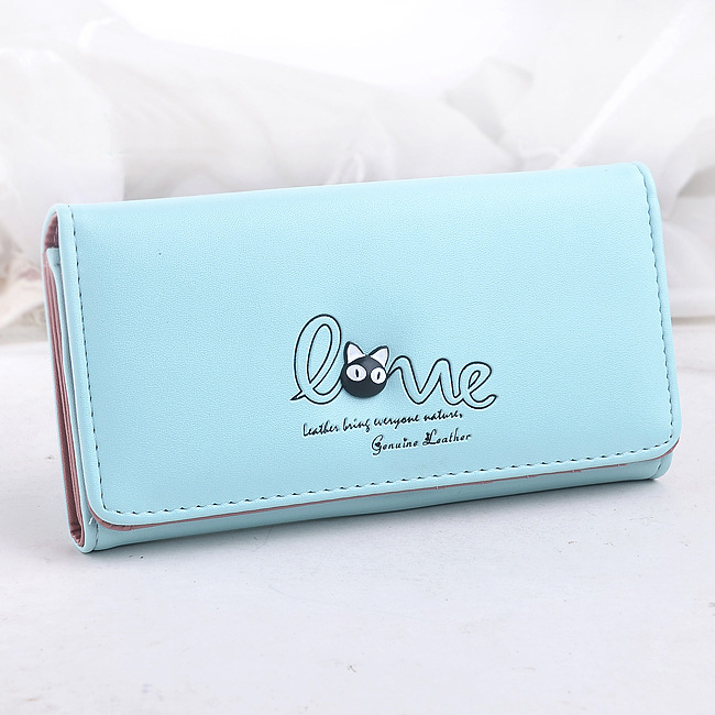Fashion Lady Purses Women Wallets Cards Holder Love Money Bags Girls Coin Purse PU Leather New Woman Clutch Wallet Handbag Burse