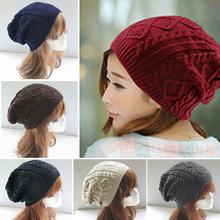 Women New Design Caps Twist Pattern Women Winter Hat Knitted Sweater Fashion Hats 6 colors Y1