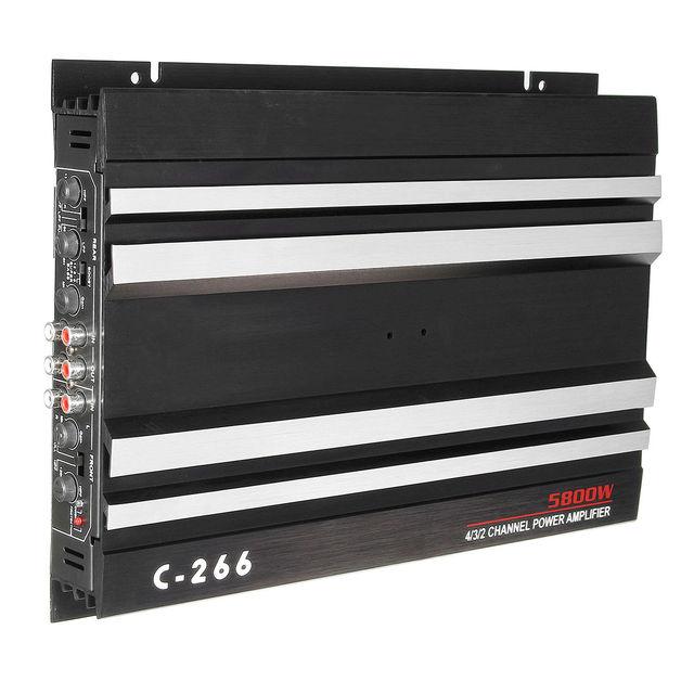 Best Offers 12 V Car Auto 5800w Rms Audio Amplifier Bass Amp Aluminum 4 Channel High Power