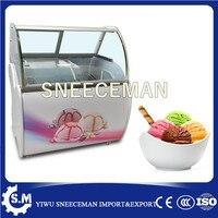 גלידה באיכות גבוהה מקרר גלידת גלידת ארון תצוגת ארון עם CE למכירה