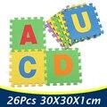 26 Unidades/pacote Esteira do Enigma de EVA Foam Piso Enigma Mat Letras Do Alfabeto Atividade Bebê esteira Do Jogo Do Bebê Tapetes de Carpete Tapetes PX28