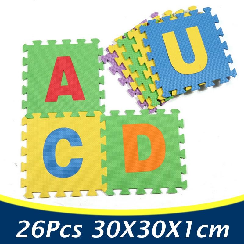 26pcspack alphabet eva puzzle mat foam floor puzzle mat letters baby play carpet rugs
