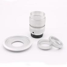 Fujian 25mm f/1.4 lente slr miniatura para gf5 panasonic micro 4/3 p3 e-p1 g1 macro silve frete grátis