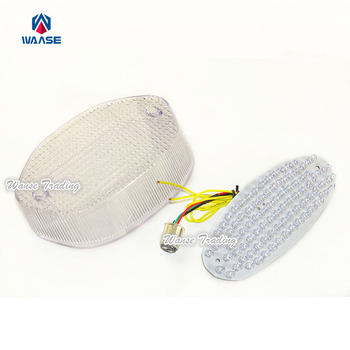 waase E-Marked Rear Tail Brake Turn Signals Integrated Led Light Clear For BMW F650CS F650 CS K14 2001 2002 2003 2004 2005 2006