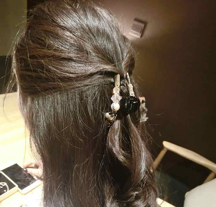 Headwear ที่มีสีสันลูกปัด Hairpins Rhinestone คลิปผม SHINY Crab Claws ผมสำหรับเด็กผู้หญิงสาวผมอุปกรณ์เสริมเครื่องประดับ