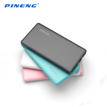 Original PINENG PN-958 10000mAh LED Display Power Bank Emergency PowerBank with 2 USB Output Power Bank for iPhone7 Samsung S8
