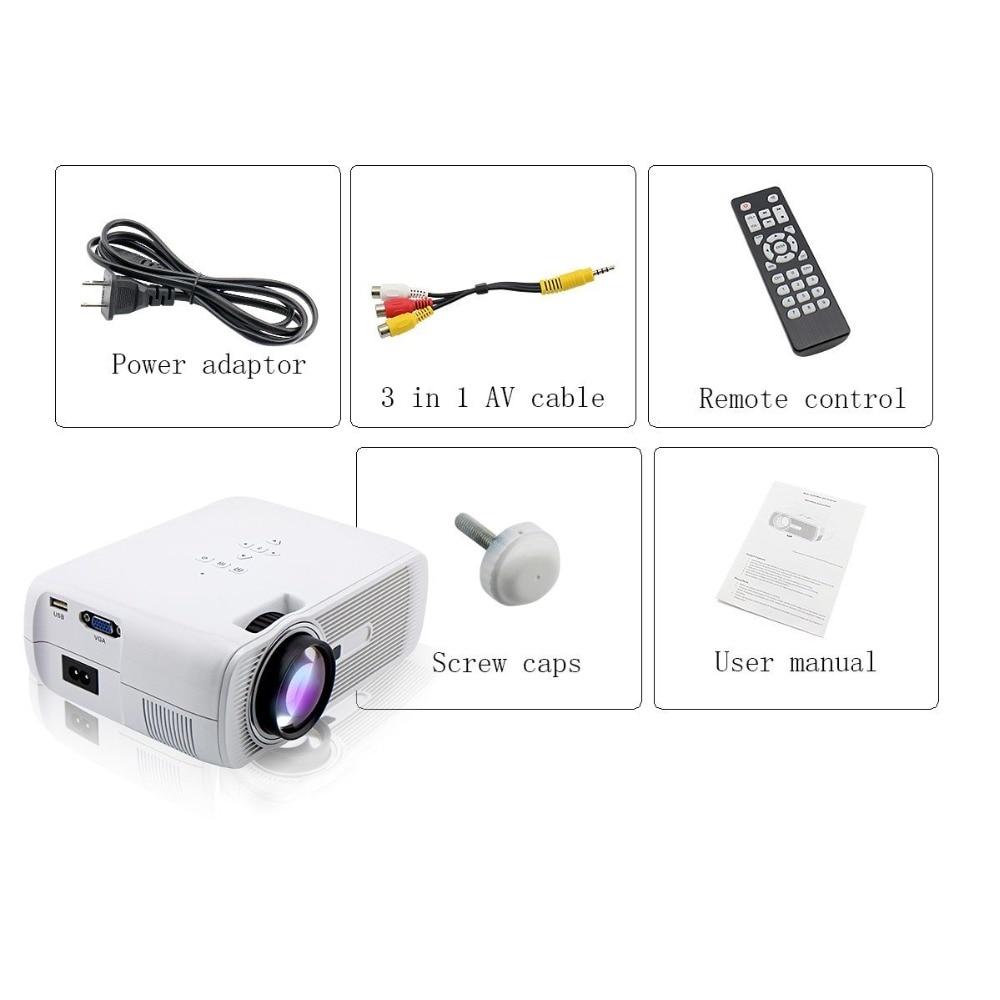 Crenova XPE460 HD 1080P Full LED Projector Home Theater Cinema HDMI Gift