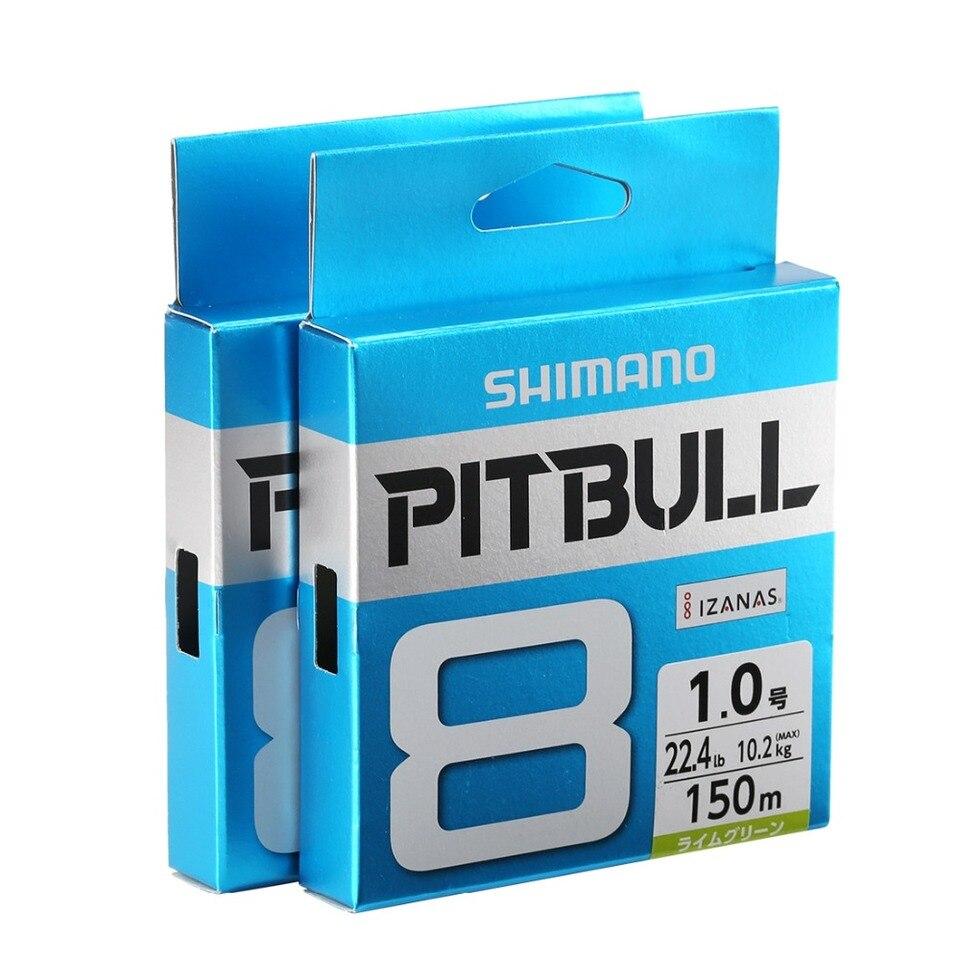 Shimano Pitbull 8 PLUS Geflochten Pe Line 200m Mehrfarbig Auswahl LB
