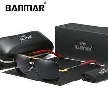 BANMAR Vintage Retro Brand Designer Men Polarized Sunglasses Square Classic Shades Sun glasses UV400 Oculos For Women Gafas
