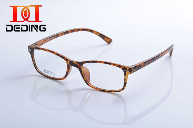 Deding único pintura a têmpera homem braço plástico das mulheres praça limpar Lens prescrição óculos de miopia enquadrar oculos de grau DD1141