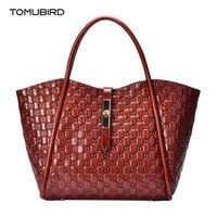 TOMUBIRD 2019 New women genuine leather bag fashion embossing art bag tote women real leather handbags shoulder bag