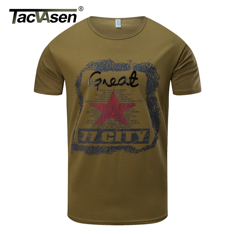 TACVASEN Mens Summer Tactical T-shirt New Military Short Sleeve Cotton Casual T Shirt Fashion Cargo Army Clothes TD-QZQQ-018