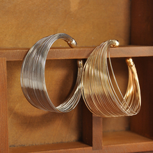 New Women multilayer Open Wide Style Cuff Bracelet Bangle Je
