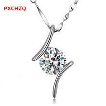 La sra. droplike estilo de la moda de joyería de plata esterlina colgante de collar de colgantes de cristal brillante dos color popular 20 MM
