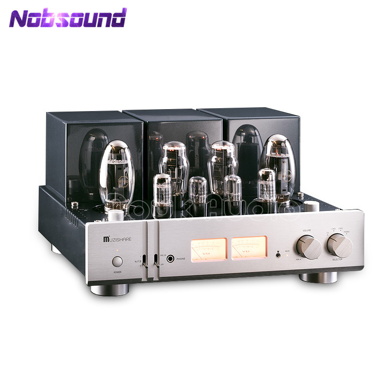 MUZISHARE X10 Hi-end Dual Tube Rectifier KT150 Tube Amplifier HiFi Phono Preamp Single-ended Class A Power Amp Home Audio 2017 new nobsound hifi hi end audio noise power purifier tube amplifier home audio power supply filter ac socket