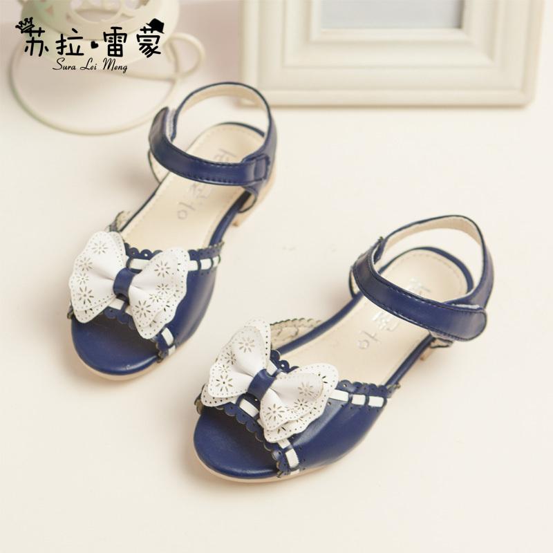 2015 New Model Girls Shoes Girls Sandals With Multicolored Butterfly