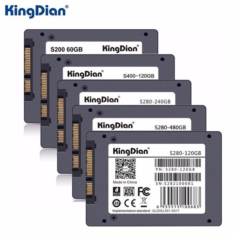 Оригинальный KingDian SSD жесткий диск SATA3 SSD 2.5 дюймов 60 ГБ 120 г 240 ГБ 480 г жесткий диск диск HD HDD напрямую с фабрики KingDian