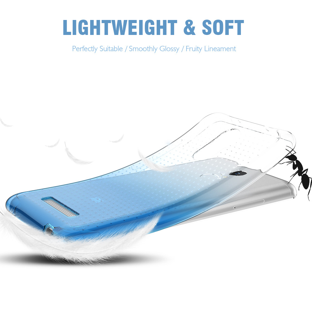 Kisscase Shockproof Gradient Cover For Xiaomi Redmi Note 3 4 Red Mi4 Shining Case Crystal Clear Pro Silicon Mi5 In Fitted Cases From