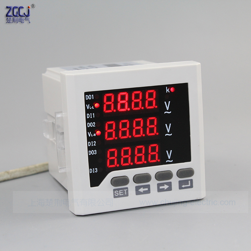 3 Phase 3 Wire And 4 Wire Led Digital 3 Phase Voltage Meter 3 Phase Panel Meter Digital V Meter Voltmeter 3 Phase Voltage Phase Voltagepanel Meter Aliexpress