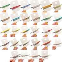 28 estilos Senhora Coreana Meninas de Cabelo Decorativos Íris Clipe Doce Cor Faux Cristal Barrettes Hairpin Feito À Mão Beading Longa Faixa