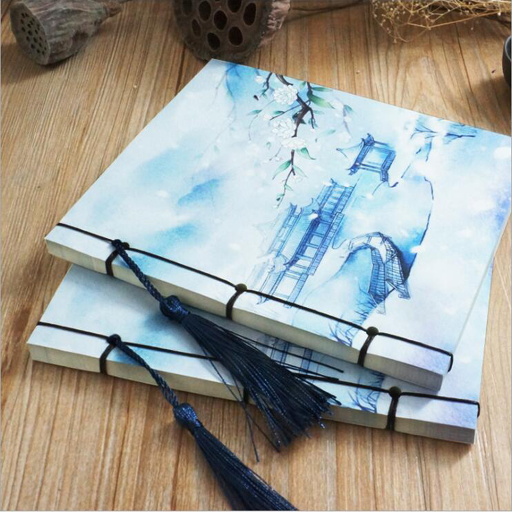 Chinese Style Vintage Paper Notebook Creative Retro Fitted Handwork Collection Scrapbook Daily Memos Composition Books classic notebook vintage