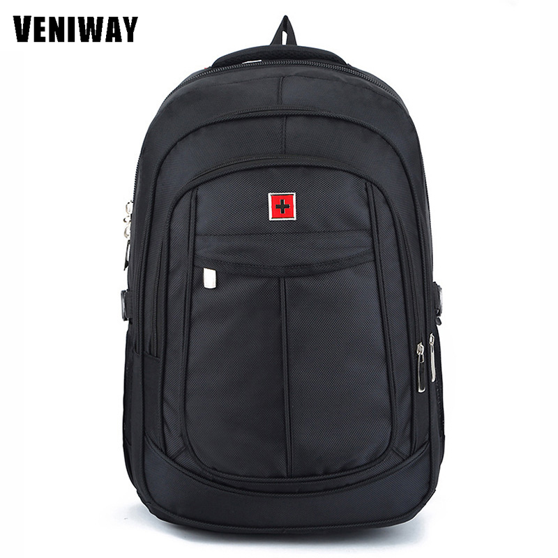 Veniway Swiss Gross Gear Waterproof Laptop Men Backpack 15 Inches Large Capacity Business Backpacks Travel Bag Student Schoolbag