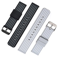 все цены на Bemorcabo 2pcs 18mm 20mm 22mm Silicone Watch Band with Quick Release Pins,Watch Strap w/ Adjustable Metal Clasp for Huawei Watch онлайн
