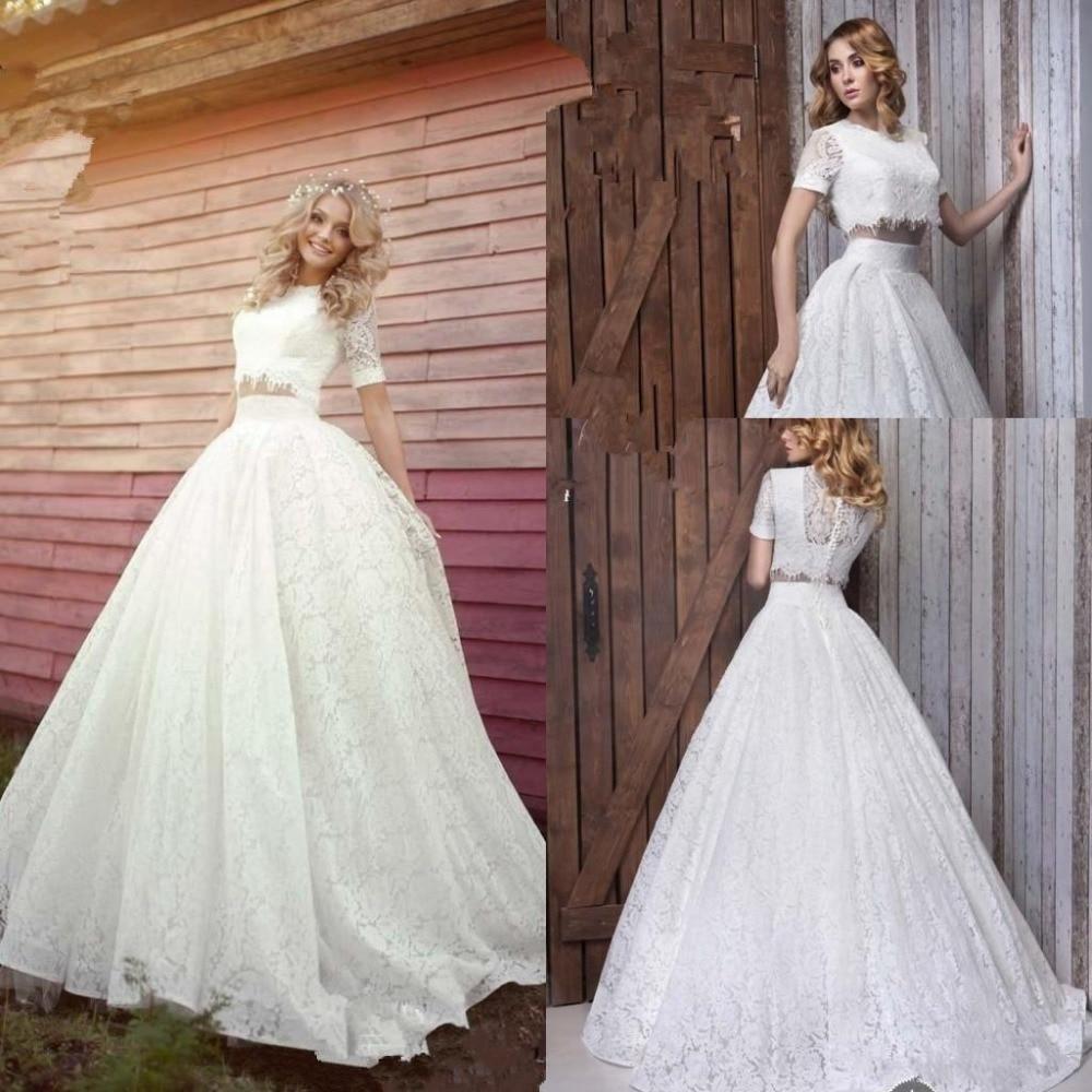 Designer Wedding Dresses: Romantic Two Piece 2016 New Designer Beautiful Wedding