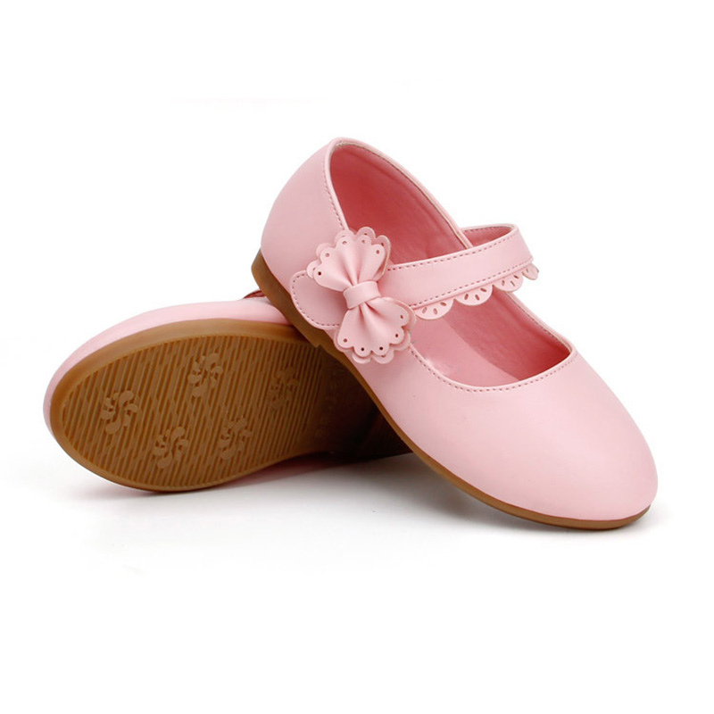 Girls Shoes New For All The Seasons Hot Sale Shoes Kids Girl Bow Flower Princess Leather Shoes Fashion Party Leather Shoes
