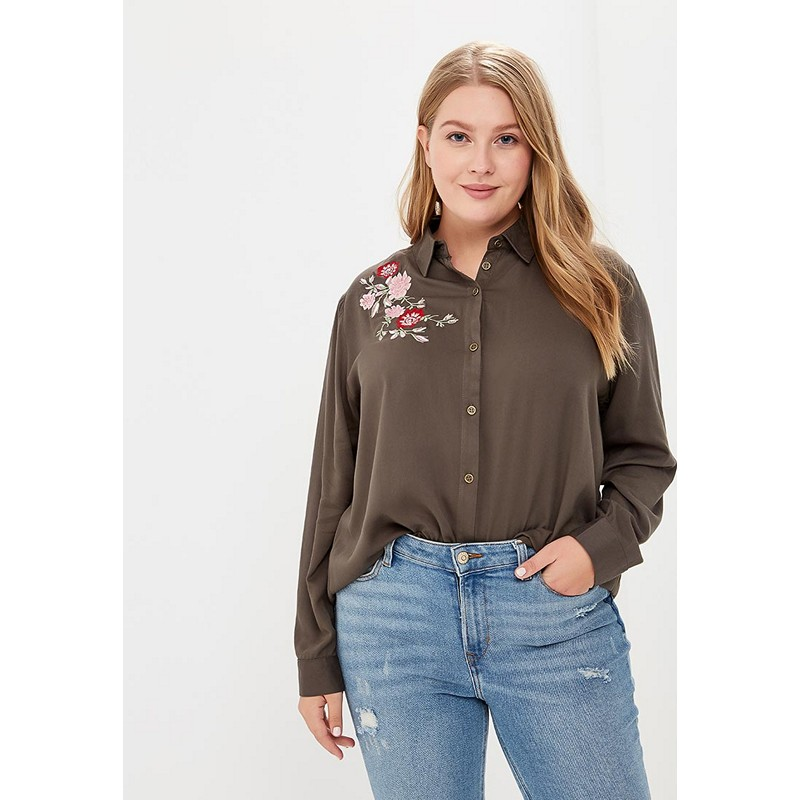 Blouses & Shirts MODIS M182W00251 blouse shirt clothes apparel for female for woman TmallFS dresses befree 1731075511 woman dress cotton long sleeve women clothes apparel casual spring for female tmallfs