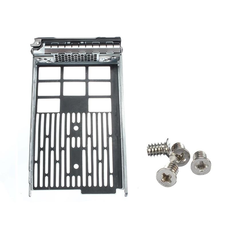 Newest 3.5 SAS SATA Tray Caddy For Dell Poweredge 0G302D 0F238F 0X968D R720 R710 R520 R510 R420 R410 With 4 Screws