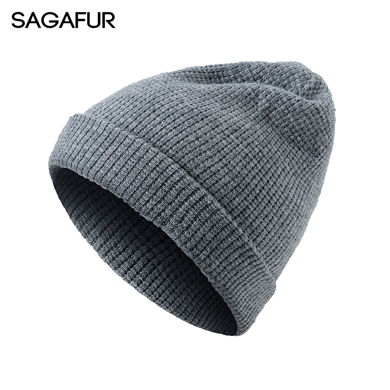 SAGAFUR  Spring Autumn Women Hat Men Cotton Autumn Winter 2017 New Knitted Beanie High Quality Caps Skullies Beanies  #CAP013  цена