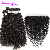 Indian Water Wave 3/4 Bundles With Lace Frontal Closure Pre Plucked 4 Or 5 pcs/lot Remy Human Hair Weave Bundles With Frontal