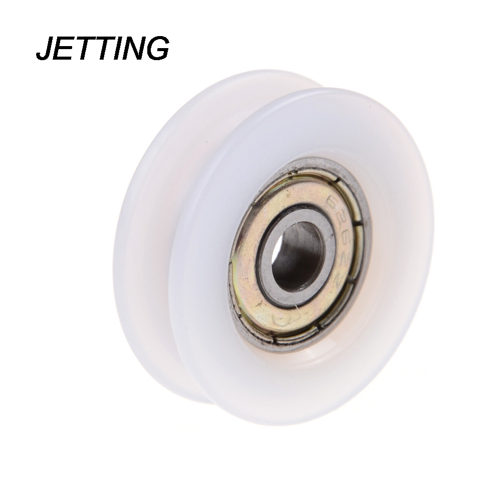 2019 New Style Jetting 1pcs U Groove Nylon Flexible Ball Bearings Wheels Roller U Groove Pulley Rail Ball Bearing 6*30*10mm