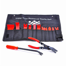 13 Pcs/Set Auto Upholstery Tools Nylon Auto Trim Removal Set with Clip Pliers and Fastener Removers Free Shipping