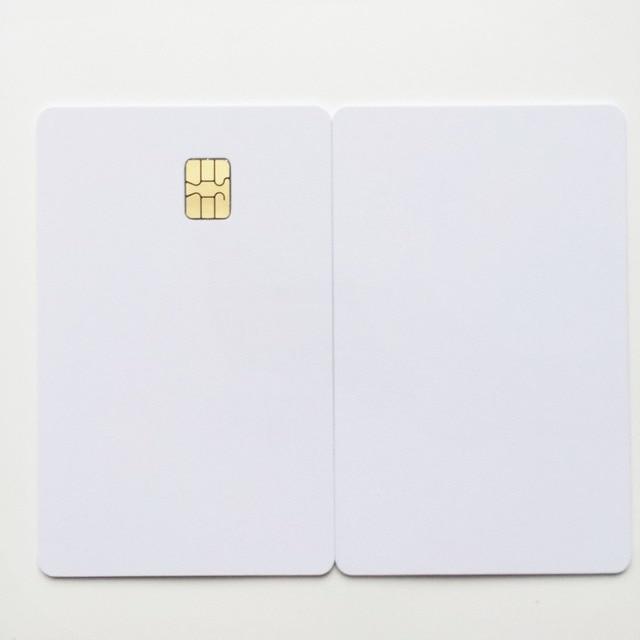 100X/lot Blank inkjet contact SLE4442 chip pvc card for membership