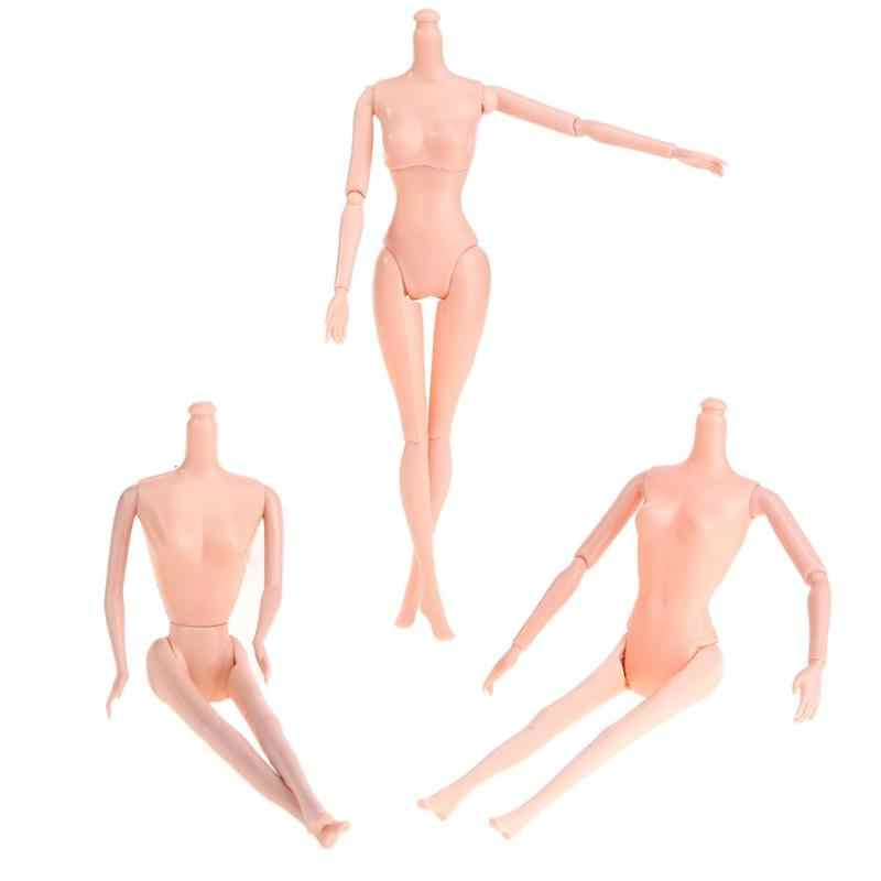 Naked Body for DIY Joints Doll Body Without Head Baking Cake Doll Girl Toys