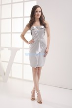 free shipping silver dress 2013 vestidos formales celebrity gowns brides maid customized short beading Bridesmaid Dresses