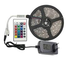 5 meter 300Leds Non-waterproof RGB Led Strip Light 2835 DC12V 60Leds/M Flexible Lighting Ribbon Tape +24key Controller fita led