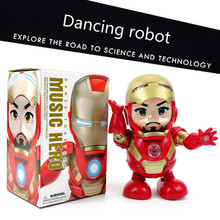 Avengers 4 Iron Man Tony Stark Q Version Dancing LED Light Robot Toys Magnetic Floating Iron Man MK3 Figurines Gift for Kids Boy inflatable sky dancing tube man ghost chef outdoor waving air dancing man for advertising celebration without fan blower