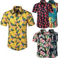 Camisa hawaiana Camisa Masculina Hombre hawaiana Camisa Chemise Homme Camisas Hombre playa Hawaii Aloha fiesta verano vacaciones Betis