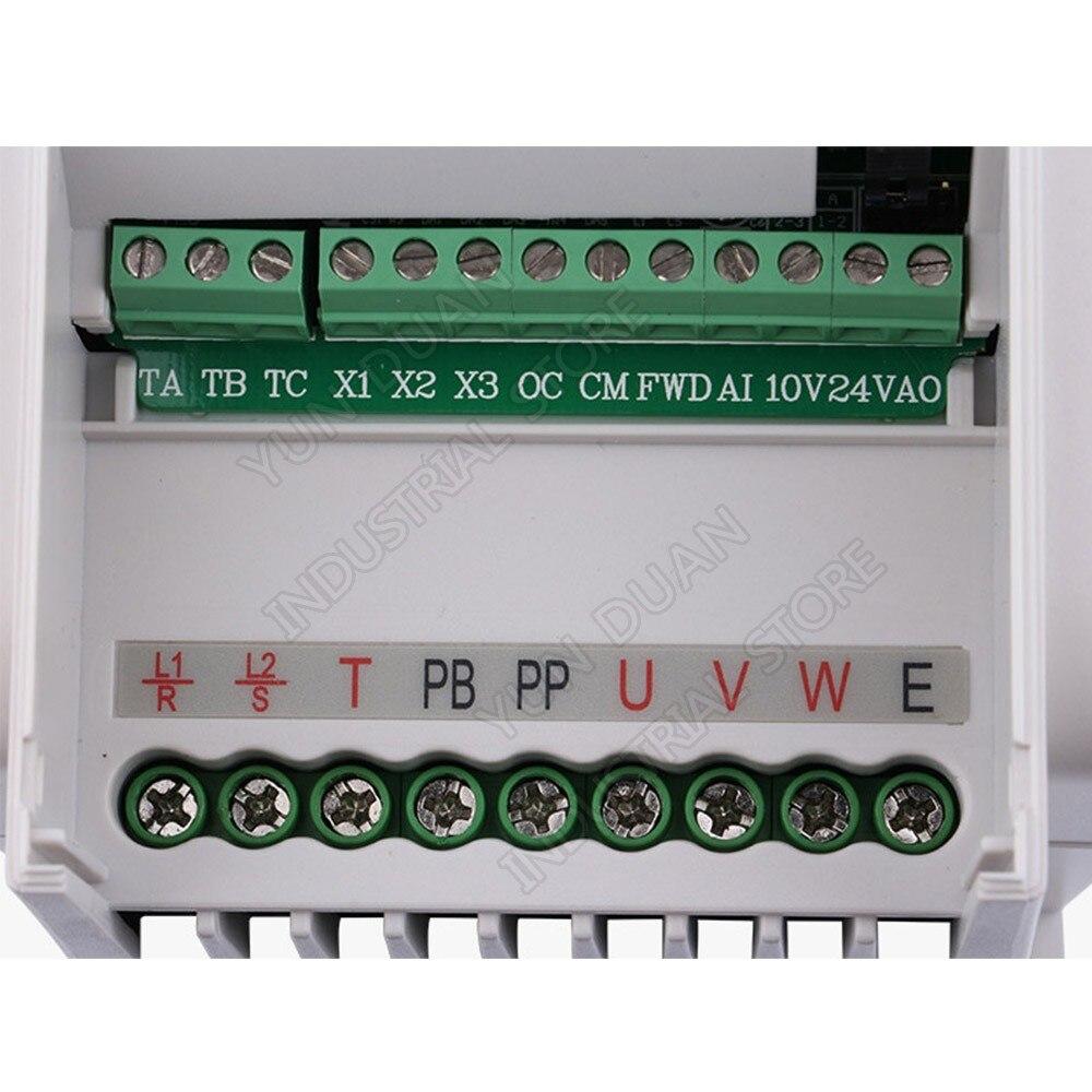 SUNFAR VFD 0.75KW 750 W 220 V 1PH 3PH 1000Hz VVV/F SVC contrôleur de convertisseur de fréquence universel pour ventilateur de broche de routeur - 3