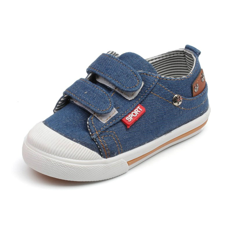 Childrens Girls Boys Canvas Shoes High Quality Denim Soft Bottom Spring Heels Casual Sneakers Baby Toddler Shoes