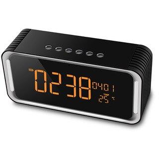 Mode Portable Bluetooth Haut-Parleur avec grand écran LED, FM radio, alarme, TF carte/U disque/Aux-in jeu