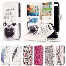 Для Коке iPhone 7 Случае Кожаный Бумажник Силикона Мягкая Откидная Крышка Чехол Для телефона Для Apple iPhone 7 Плюс Крышка Собака 3D Рельеф кожа