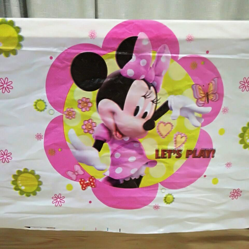 108cm*180cm Minnie Mouse Birthday Party Decoration Kids Favor Party Supplies Set Cartoon Theme Party Disposal Table Cloth