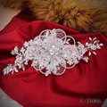 Nova Chegada Hot Sale Europeia Casamento Real Chapéus de Casamento Nupcial Acessórios de Cabelo Handmade Pérolas de Cristal Rhinestone Bridal Party
