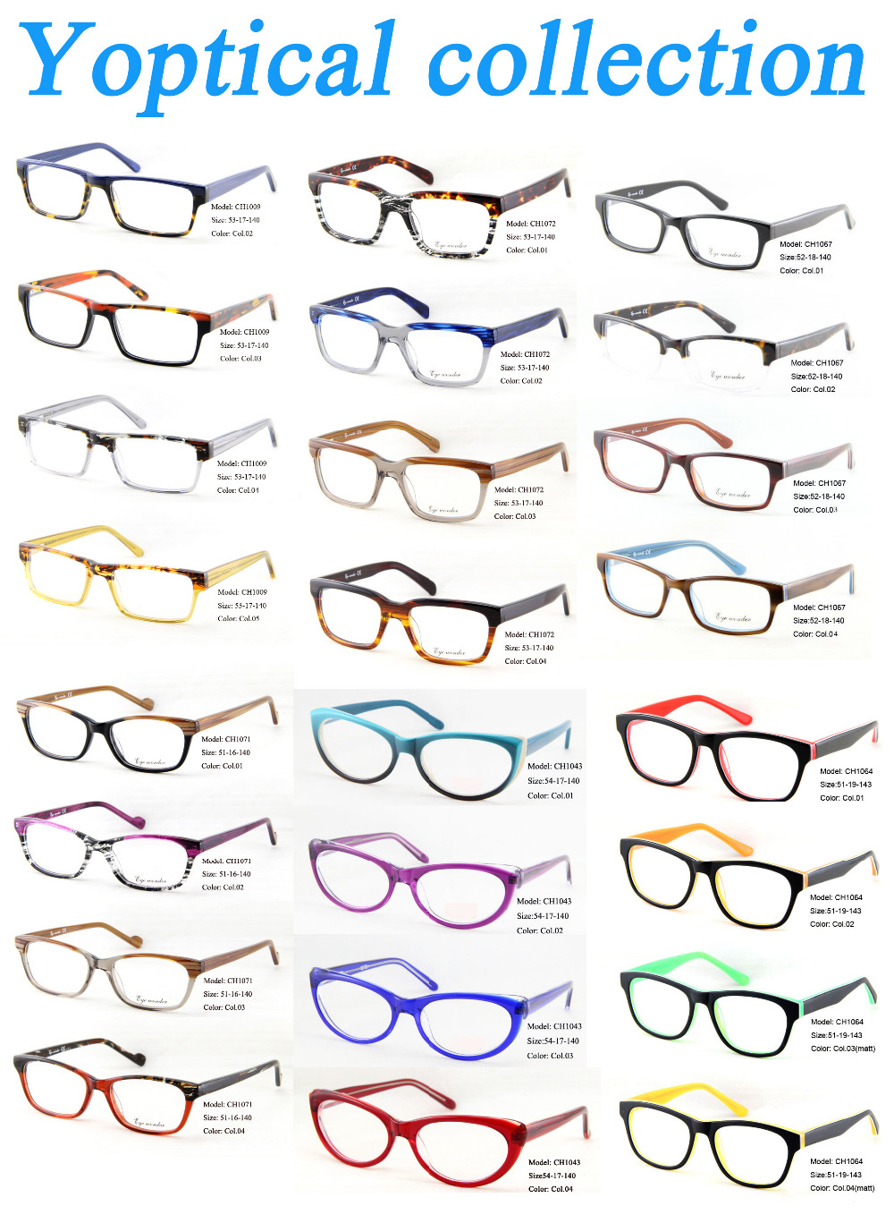 cd736e74ea Wholesale Eyewear Accessories Men Eyes Vintage Glasses Frames Women ...